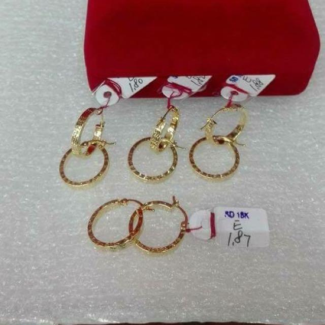 Authentic Earrings 18k Saudi Gold