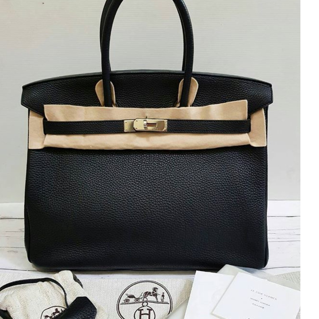 ... clearance authentic hermes birkin 35 black togo phw stamp n luxury bags  wallets on carousell 0531a 375e9d0fa2152