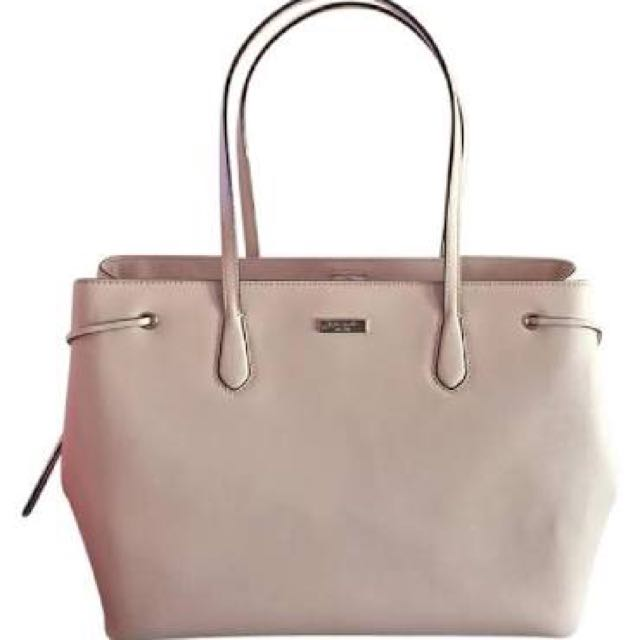 e620afc2c002 authentic kate spade Pink Leather Laurel Way Ari Large Saffiano ...