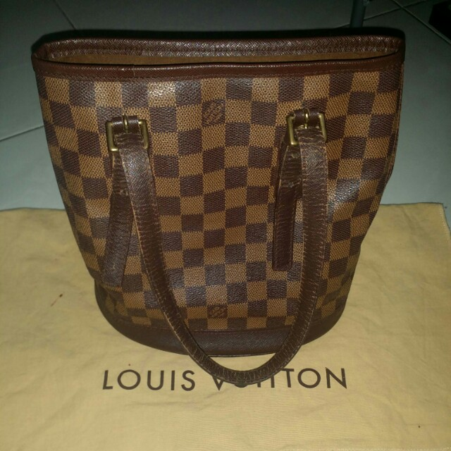 0ac052ca2bbd9 Authentic Louis Vuitton Damier Bucket Bag