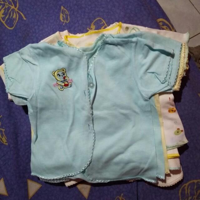 Baju bayi lengan pendek 0-6 bln