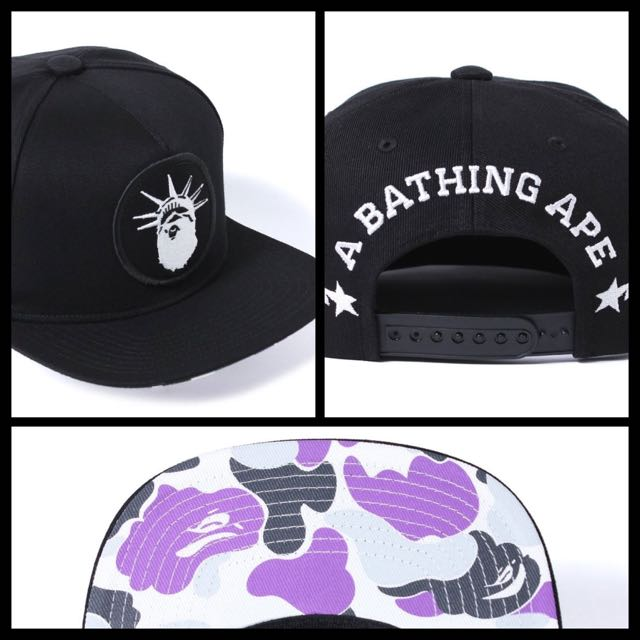 Bape Liberty Aape New York City Snapback Cap