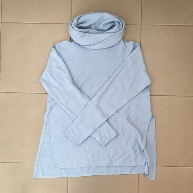 BARDOT Baby Blue Turtleneck Knit