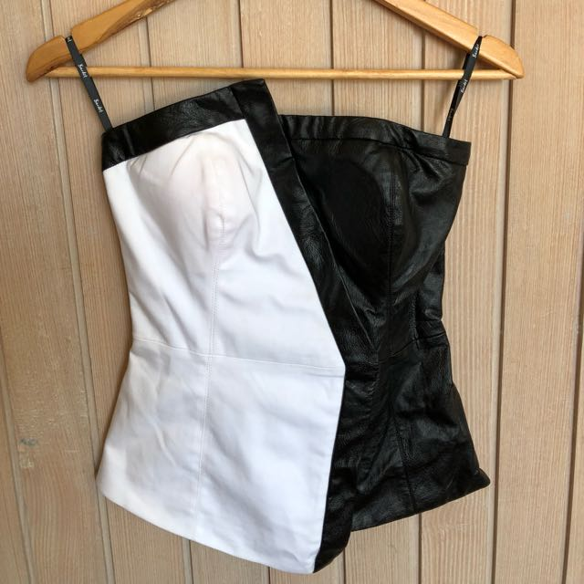 Bardot Black and White Corset
