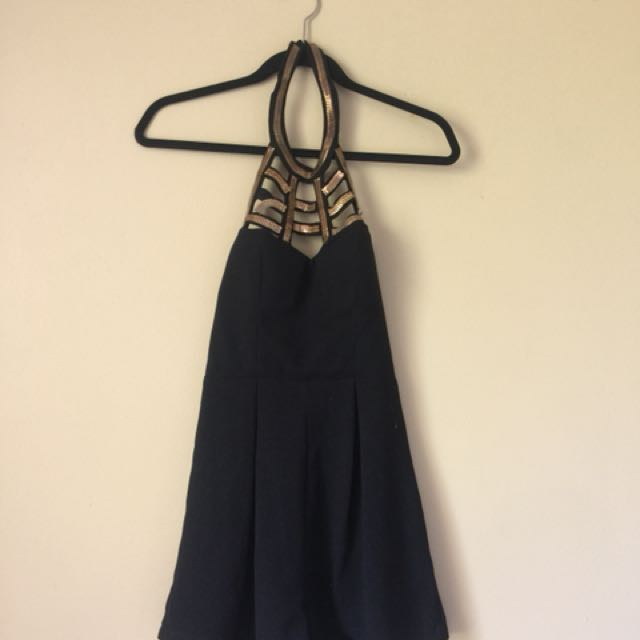 Black & Gold Jumpsuit Sz 6-8