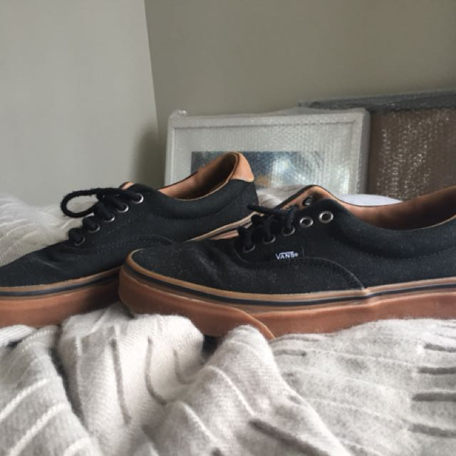 Black and Brown Vans