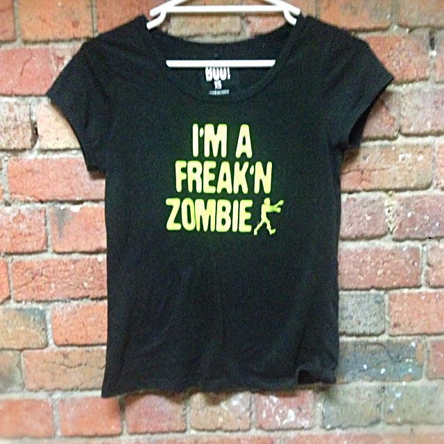 Black Word Print T-Shirt