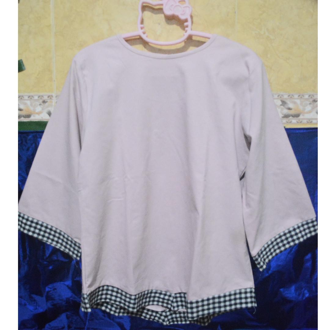 blouse pink tartan