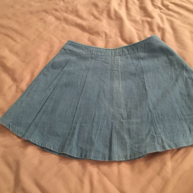 Blue A-line skirt free size