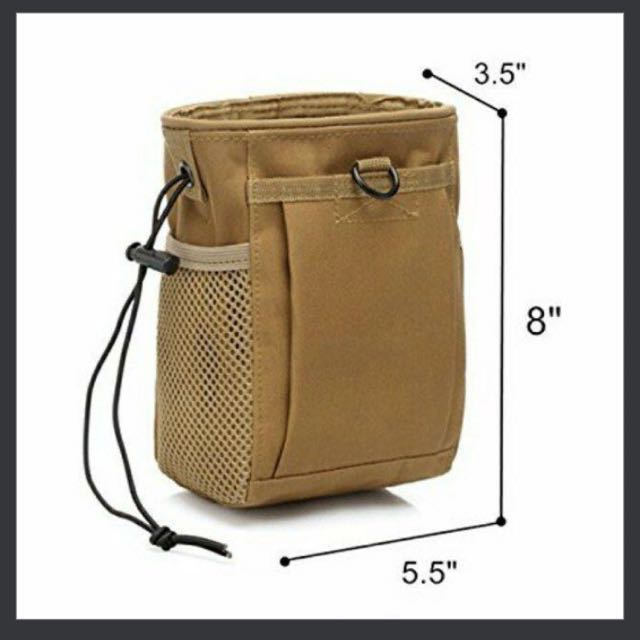 b013c2a7b5e3 BN MOLLE Heavy-duty Dump Pouch, Drawstring Tactical Pouch, Mag Recovery  Pouch
