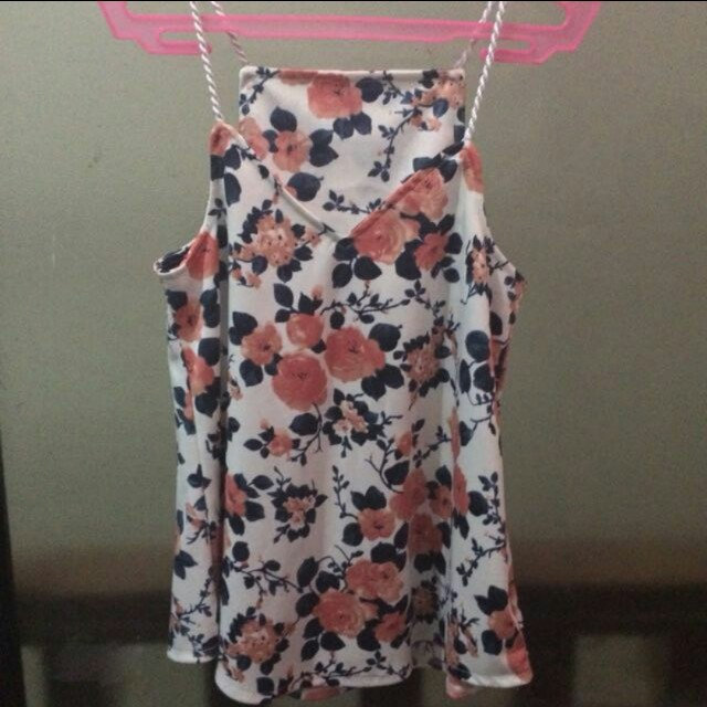 CAMI FLORAL WHITE TOP