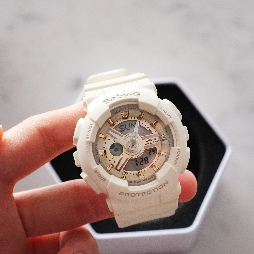 101500d245b5 Casio Baby G White and Rose Gold BA110 5338