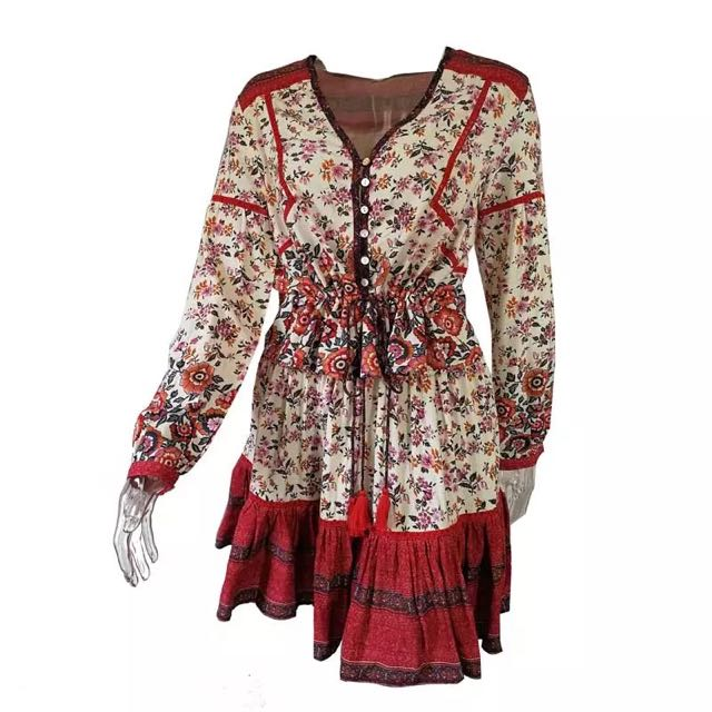 Cast Your Spell in this gypsy print Elle set. Blouse and mini skirt. Free Aus Post