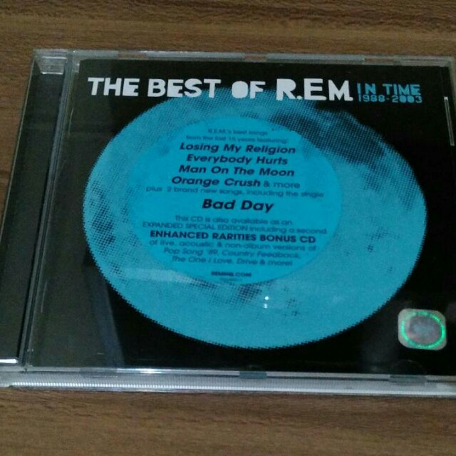 CD REM, album In Time, original, import dan mulus.
