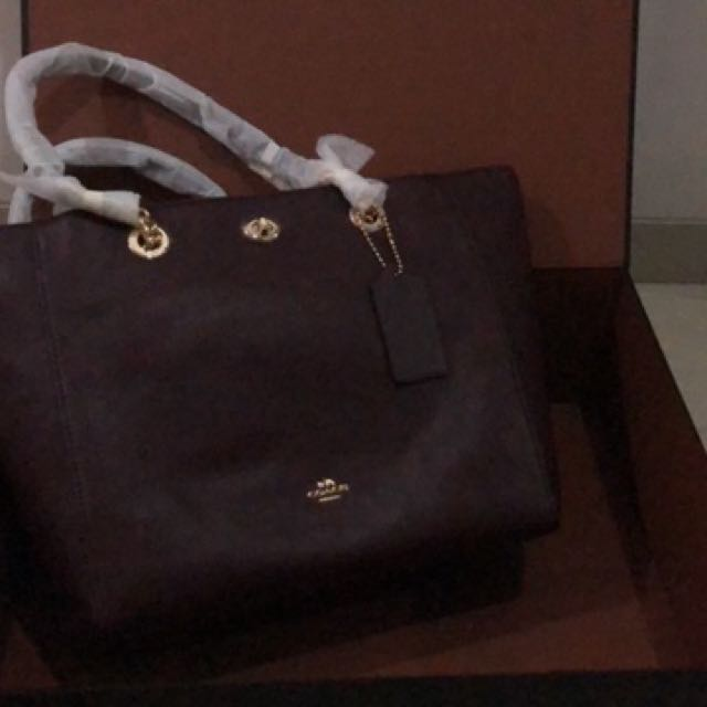 Coach bag chain handle tas coach