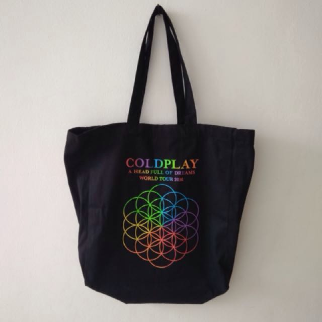 Coldplay A Head Full of Dreams World Tour 2016 Official Totebag Merchandise