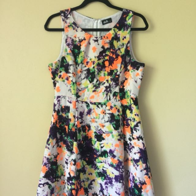 Colourful Dotti Dress Sz 12