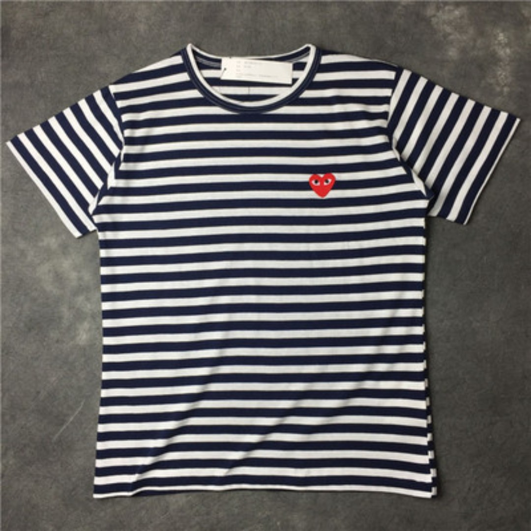 5ff6e91bd844 Comme des Garçons (CDG) Play Striped Short Sleeved T-Shirts