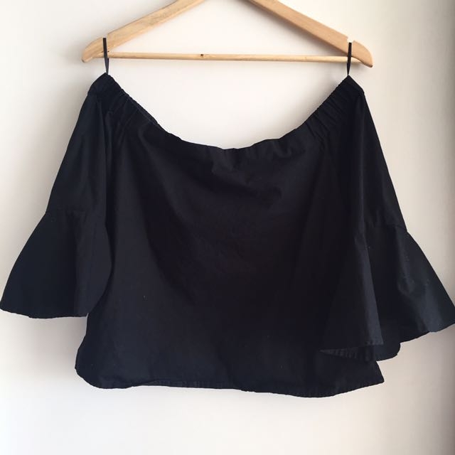 Cotton On off the shoulder black blouse / top