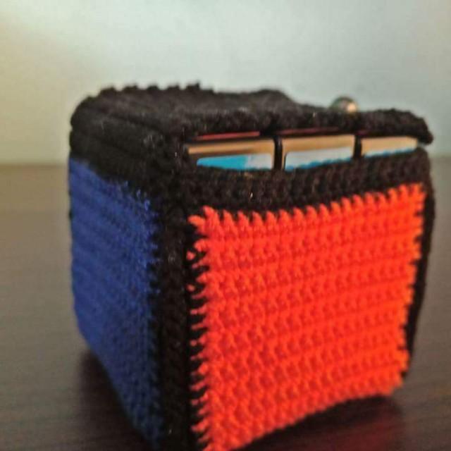 Crochet rubik's cube bag with free 3x3x3