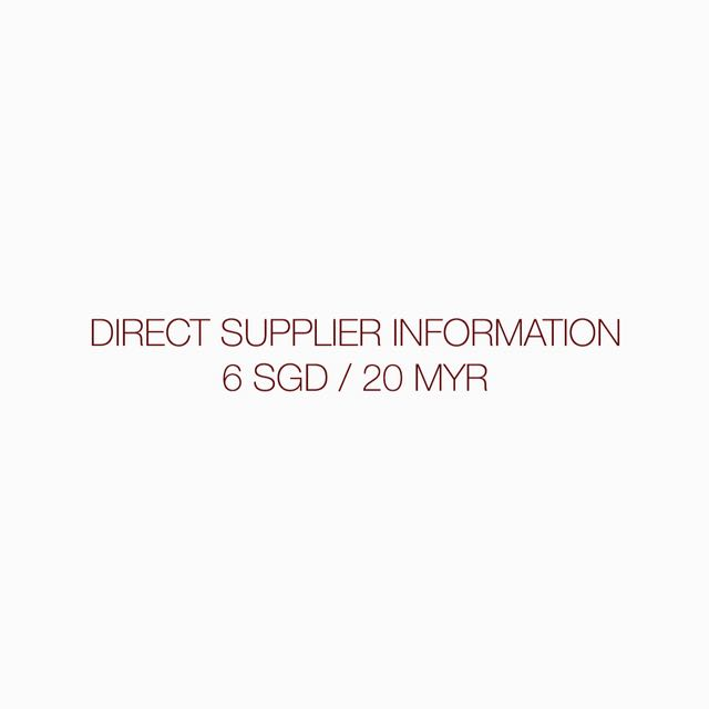 DIRECT SUPPLIER INFO (KPOP)