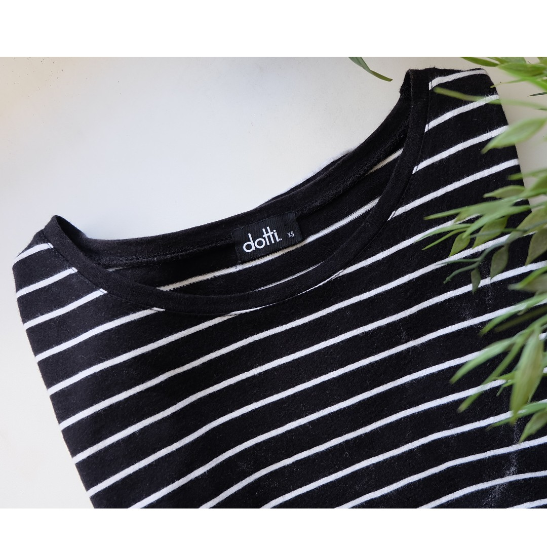 Dotti Navy Striped Tee