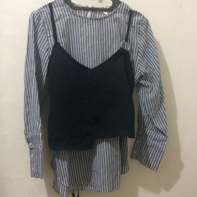doublw layer long sleeves