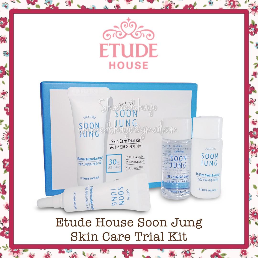 Etude House Soon Jung Skincare Kit 4 piece item