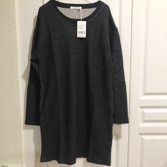 E-WEAR 深灰色長版上衣