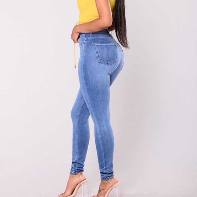 Fashion Nova Medium Washed Jeans