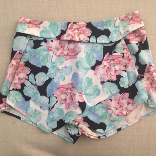 Floral skort (short and skirt)