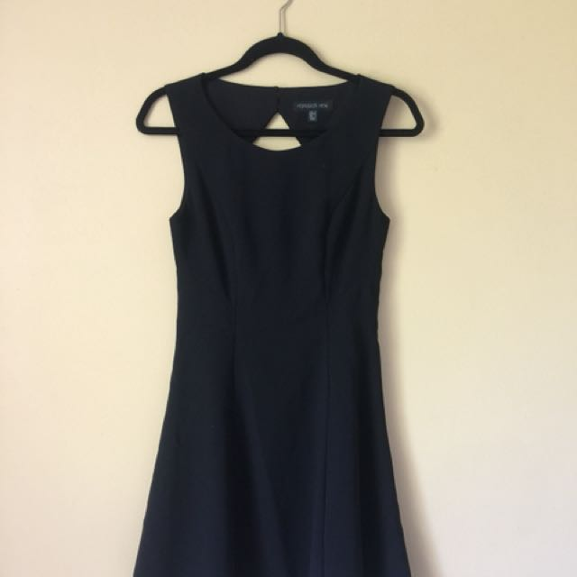 Forever New Black Dress with triangle back Sz 8