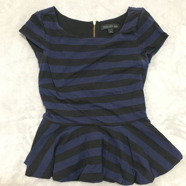 Forever new peplum top size 6
