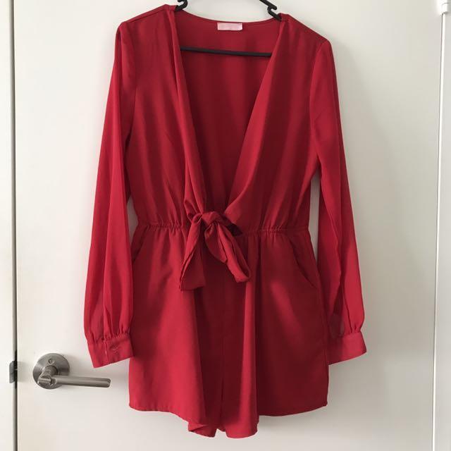 Gorgeous red jumpsuit, sz 10