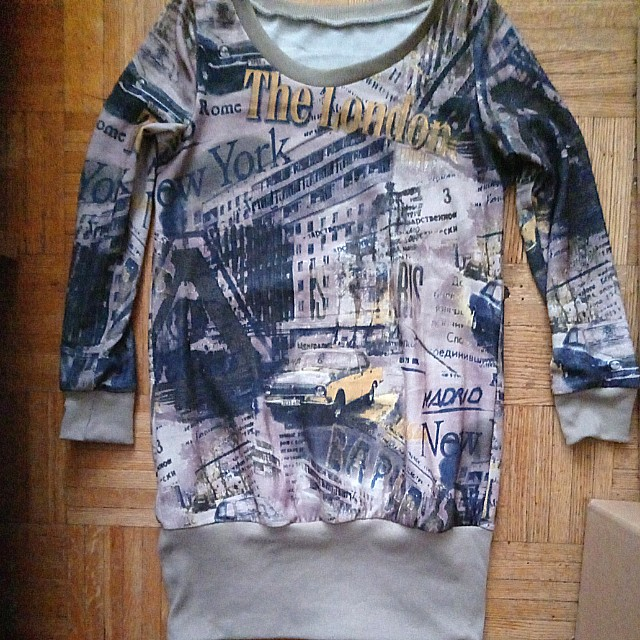Graffiti sweater dress