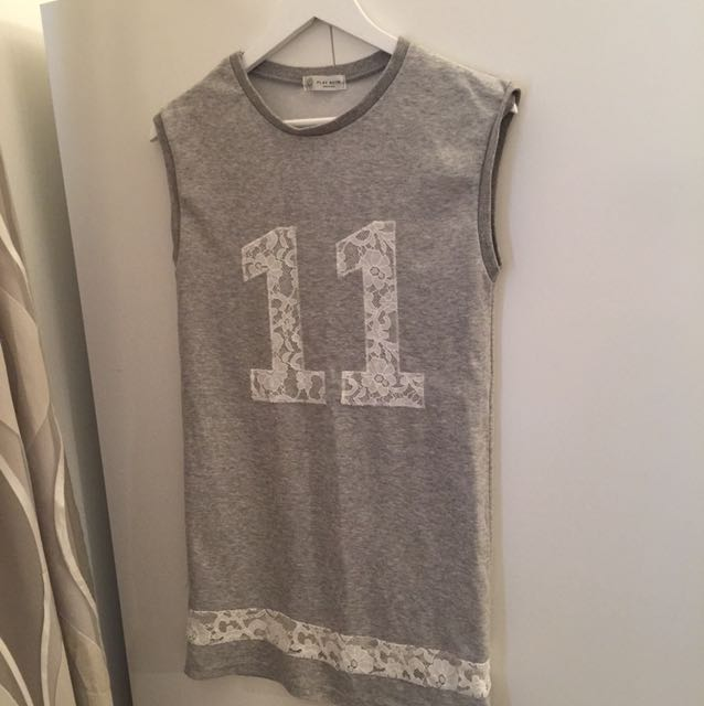 Gray dress/top size s