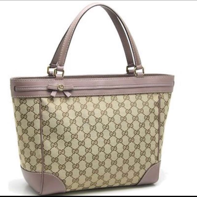 055f6627f9fe GUCCI 257061 Mayfair Bow Detail Tote Bag GG Pattern Canvas, Luxury, Bags &  Wallets on Carousell
