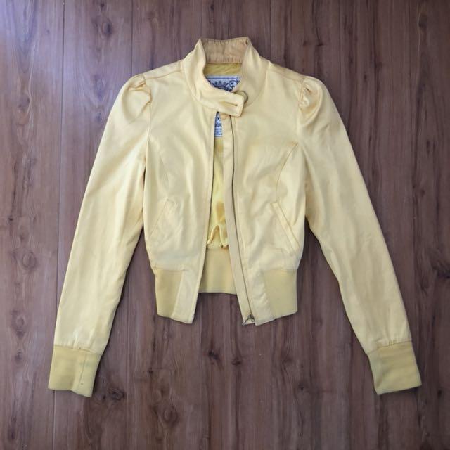 Guess yellow bomber jacket