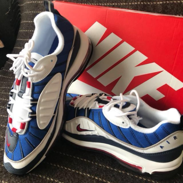 75d411e04b2 ... Gundam Nike seismic velocity air max 98 Uk 9.5 US 10.5 premium red blue  white 97 ...