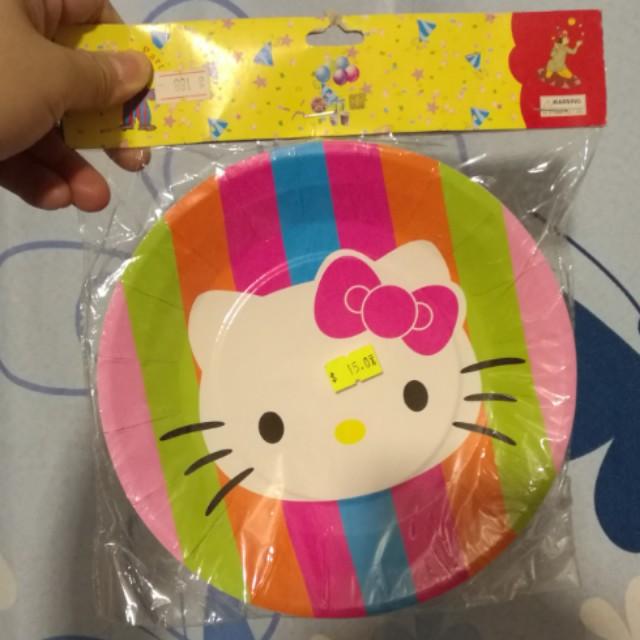 Hello Kitty Party Paper Plate - 12pcs #15off