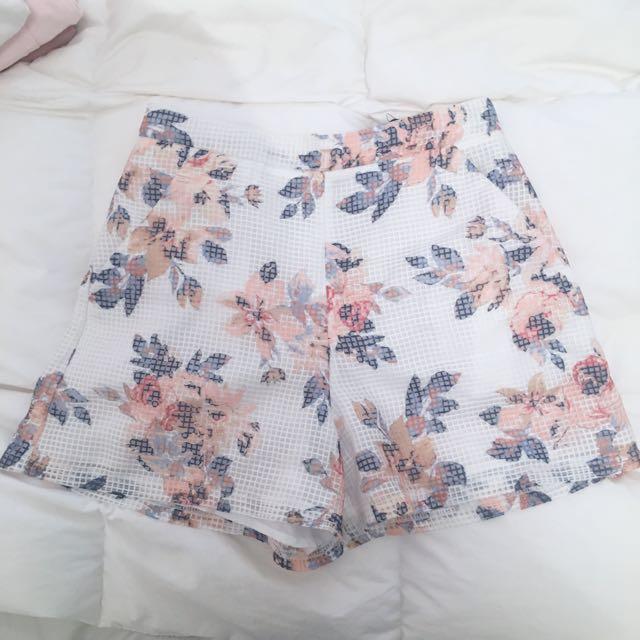 High Waist Floral Shorts Sportsgirl