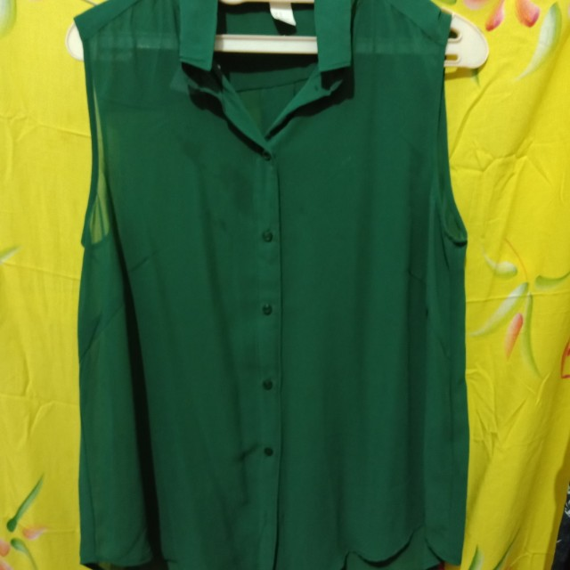 HnM sleveless green top