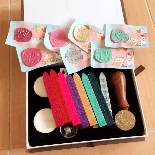 "[INSTOCK] Customized ""With Love"" Wax Seal Stamp Set"