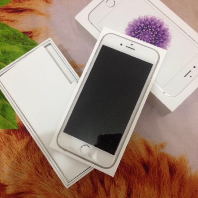 Iphone 6 silver 16gb ex garansi resmi indonesia