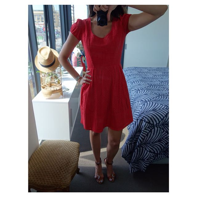 "Issa Red Summer Dress (Cotton) - As worn by Charlotte in ""Sex in the City"""
