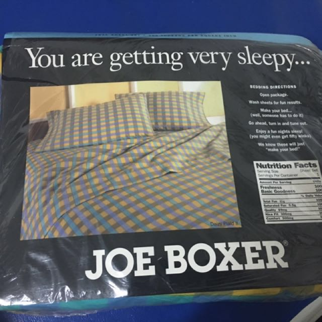 Joe Boxer Bed Sheet Set