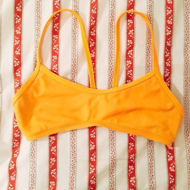 JOLYN Yellow-Orangy (Mango) Bikini Top
