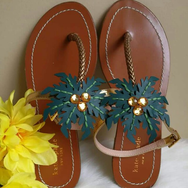 313bde9cba63 Kate Spade New York  Solana  Palm Tree Sandal