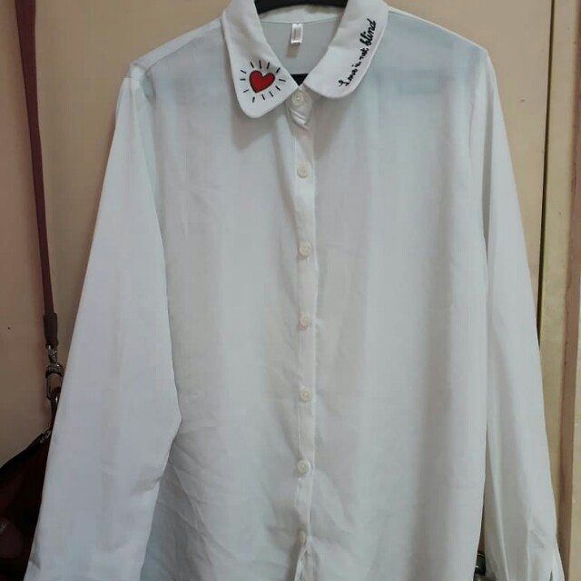 Korean top embroidered
