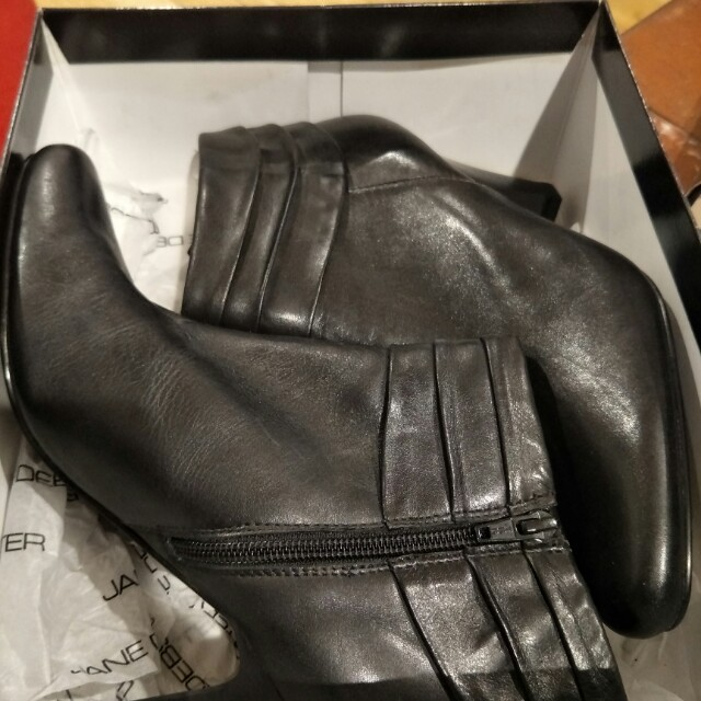Leather ankle boots brand new